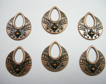 Copper Plated Drops Charms Chandelier - Pendants - 25mm - 6