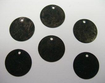 Black Patina Drops Discs Earring Findings 6 - 15mm