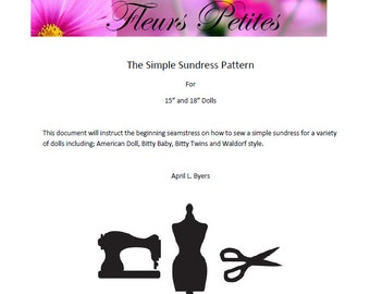 "A Simple Sundress - a pdf pattern for 15"" and 18"" dolls"