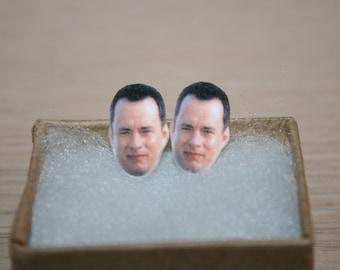 Tom Hanks Post Stud Earrings Celebrity Inspired Jewelry