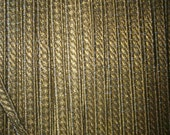 1 yd  antique gold trim, made of real metal