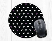 Gift for Coworker - Mouse Pad - Mousepad - Cute Mousepad - Cute Mouse Pad - Round Mouse Pad - Round Mousepad Heart Mousepad Heart Mouse Pad