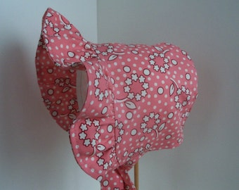BABY BONNET, Toddler Sun Hat, Prairie Bonnet, Baby Sun Hat, Baby Sun Bonnet, Summer Bonnet, Toddler Bonnet, Infant Bonnet, Handmade Bonnet