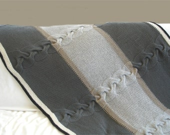 Knitting PATTERN- Classic with a Twist  Afghan Blanket PDF pattern