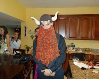 full beard viking hat