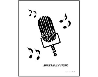 Personalized Microphone Music Print, Unframed 8x10 Typeography Print, Musician or Recording Artist Gift