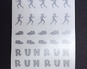 Runner Running Track Toe nail / finger nail art / tattoos / decals / stickers / pedicure