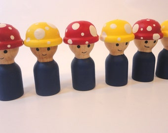 Construction workers - all natural wood toy