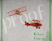 PNG file - Red Vintage Airplane Digital Photo Prop /  Overlay  / Digital Scrapbooking