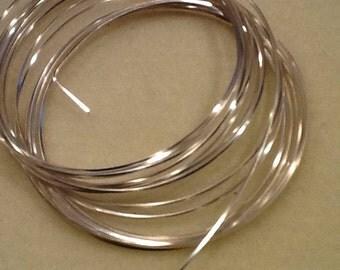 Square wire 21ga non tarnish silver 4yards