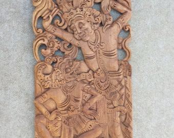 Antique Indonesian Carved Panel I