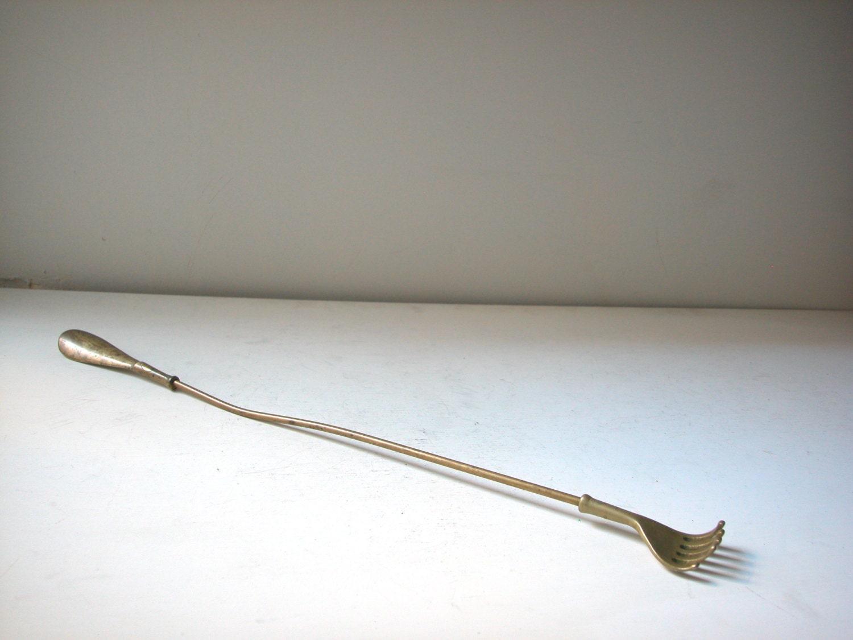 T & S Brass >> Vintage Brass Back Scratcher and Shoe Horn
