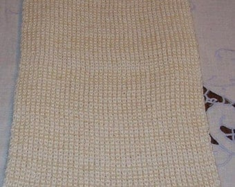 Silk Acrylic Knitted Scarf, Men, Women, Teens, Natural, Bone, Off White, Luxury Scarf