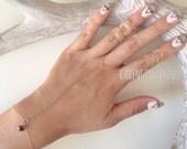 Charmed - 14kt Gold Filled Cubic Zirconia Slave Ring Bracelet