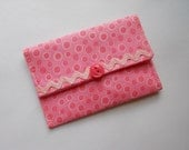 Small Wallet Business Card Wallet Gift Card Holder Pink Dots