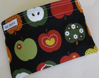 Reusable Eco Friendly Sandwich or Snack Bag Apples
