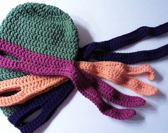 Ninja Turtle Hat Crochet Pattern  3 sizes Child to Adult
