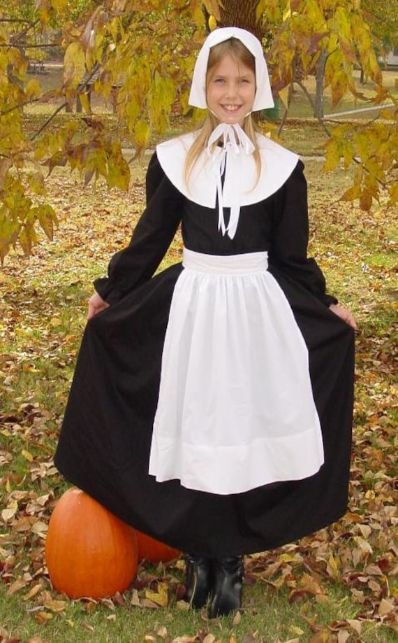 Thanksgiving Historical Clothing Handmade Costume -Pilgrim Girl