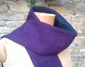 purple herringbone tweed scarf