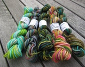 Mini Skeins - superwash merino sock yarn fingering weight - set 10