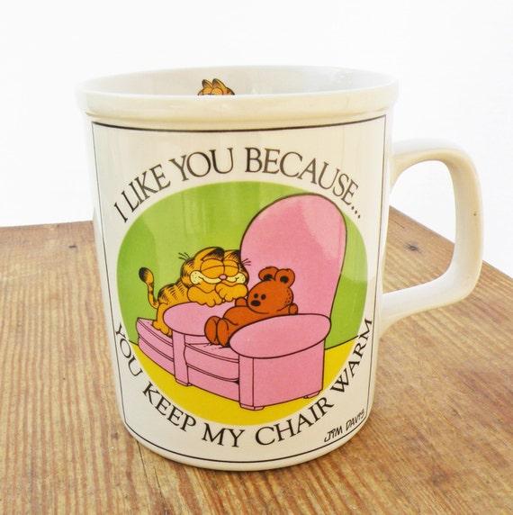 Vintage Garfield Coffee Cup Funny Mug