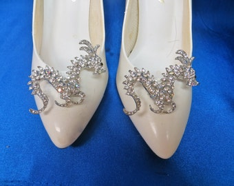 Bridal Shoe Clips-Crystal Shoe Clips - Rhinestone Shoe Clips- Wedding Shoe Clips-Adorable Shoe Clips, Dragon Shoe Clips