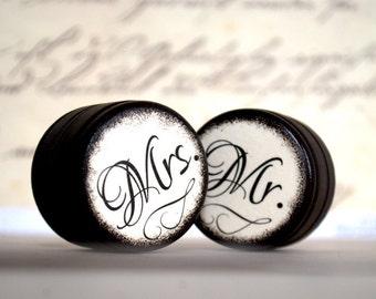Mr & Mrs - Set  0f  2 - Wedding Ring Box - Customize -