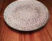 HOMER LAUGHLIN Vintage Rare Karolyte, Handy Karoline Pattern, 22 KT. Gold Dinner Plate