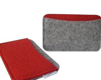 Merino Wool Felt Business Card Holder.Credit card case-  Small Wallet w. round corners. Handmade