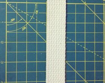 1 Inch Cotton Webbing 3 Yard Length Natural Color