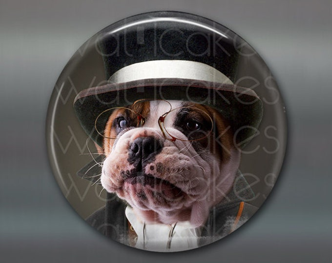 "3.5"" Refrigerator Magnets, steampunk magnet, dog decor, kitchen decor, housewarming gift large fridge magnet, steampunk decor MA-1008"