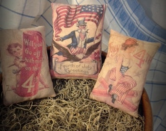 Primitive Americana Patriotic Bowl Ornies Pillow Tucks HAFAIR, OFG, DUBTeam Statteam