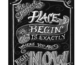 Custom Personalized Original Chalkboard Art Poster