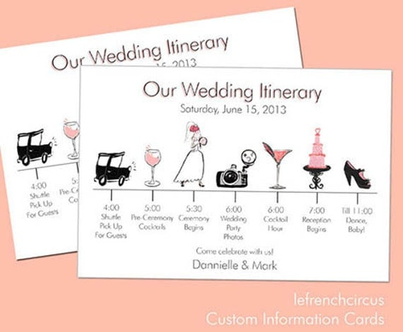 Wedding Timeline Invitations: Information Card By