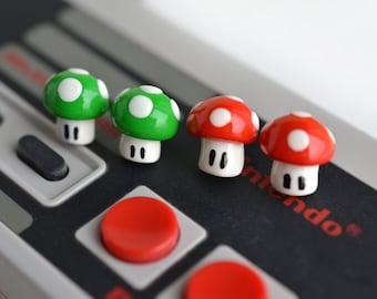 Super Mario Mushroom Stud Earrings