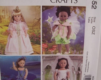 McCall's M6452 Sewing Pattern for Doll Costumes