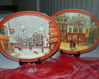 Sunshine Biscuit Trays - Maurice Utrillo - French Themes