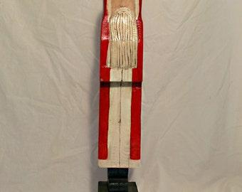 Santa Hand carved Folk Art  32 inch