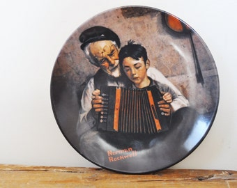 Vintage Norman Rockwell The Music Maker Collectors Plate 1981