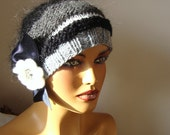 Hand Crochet Gray Hat, Fall Fashion, Holiday Accessories, Winter  Fashion, Handcrochet Women Hat