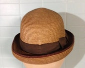 RESERVED fro Maureen Wonderful Vintage Womans or Childs Straw Hat