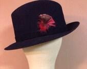 Vintage Country Gentleman Black Fedora