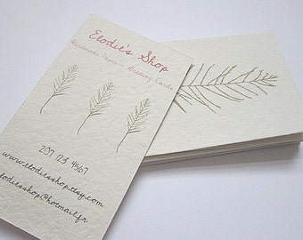 Popular items for paper business card on Etsy