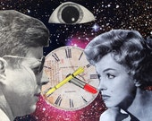Marilyn and JFK in The Twilight Zone - Original Collage