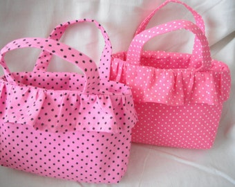 Tote Bag for Little Girls - Hand Bag - Matching Babys'  Sunhat available