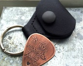 Leather Guitar Pick Carrying Case / Pouch