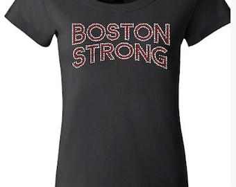 Boston Strong Rhinestone Shirt