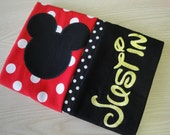 Personalized Mickey or Minnie Mouse Standard Pillowcase