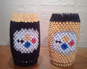 3d origami STEELERS cup
