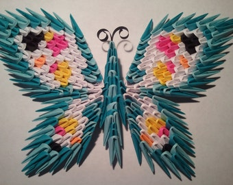 3D origami butterfly magnet 2